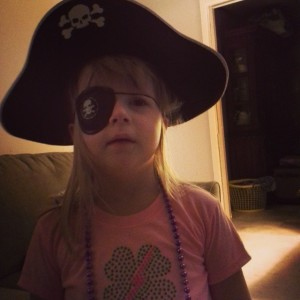 Mommy's lil pirate...