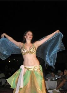 Belly dancer in Dubai, UAE