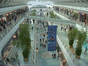 Inside Lisbon mall