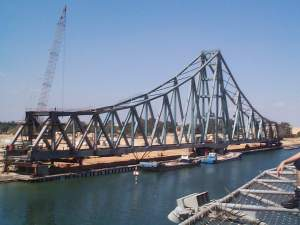 Swinging Bridge to cross Suez