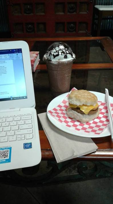 breakfast and writing